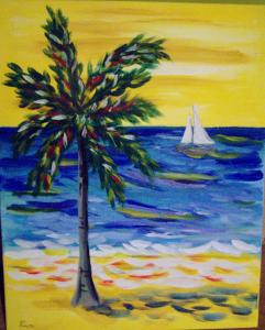 Step By Step Painting Of  Instruction Odf Seascape