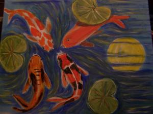 Learn how to paint a koi fish got to Belinda-lawson.blogspot.com